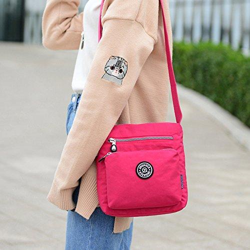 Outreo Designer Messenger Bag Schultertasche Wasserdicht Kuriertasche Mode Umhängetasche Damen Taschen Leichter Kleine Reisetasche für Mädchen Blau 3