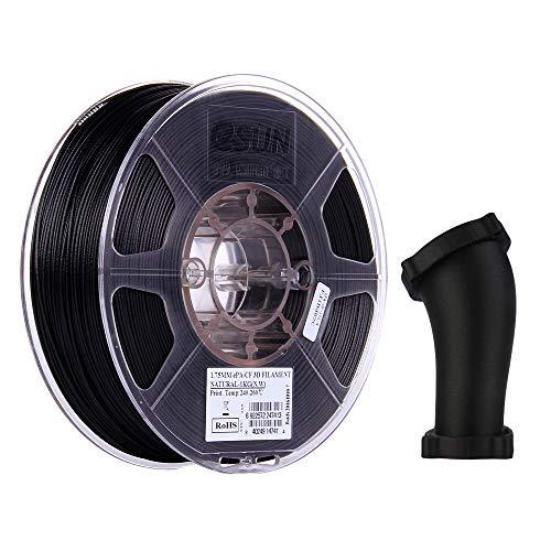 eSUN Nylon Filamento Relleno de Fibra de Carbono 1.75mm, ePA-CF Filamento de Impresora 3D, Precisión Dimensional +/- 0.05mm, 2.2 LBS (1KG) de Carrete para la Impresora 3D, Natural