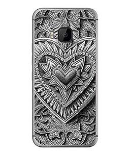 Fuson Designer Back Case Cover for HTC One M9 :: HTC One M9S :: HTC M9 (lotus sunflower rangoli artwork)