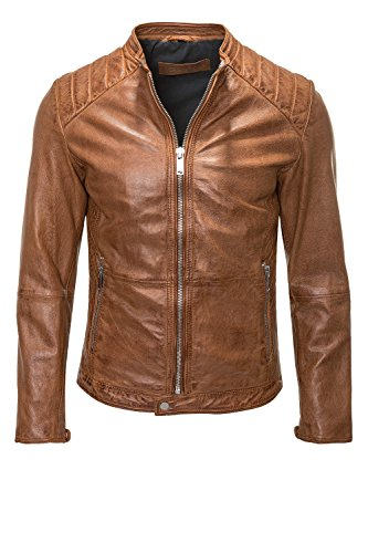 Freaky Nation Herren Jacke Echtleder Dylan Burned Orange