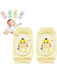 Kobwa Baby Knieschoner, Infant kriechen Anti-Rutsch Knie atmungsaktiv kneepadstoddler kriechen Sicherheit Displayschutzfolie für Jungen/Mädchen (Unisex)