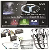 Kenwood DNX-8170DABS Navigation Bluetooth Digitalradio Carplay Android Auto USB MP3 CD DVD Autoradio Einbauset für Opel Astra J, Farbe der Radioblende:Perl-Schwarz