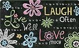 Toland Home Garden 830184Live Laugh Love Kreidetafel 45,7x 76,2cm recyceltem Matte, USA hergestellt