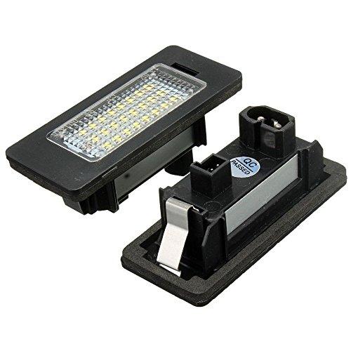 1 paire de feux d'éclairage DEL 24SMD KATUR E-marquée OBC sans message d'erreur pour plaque d'immatriculation pour BMW E81 E82 E90 E91 E92 E93 E60 E61 E39 X1/E84