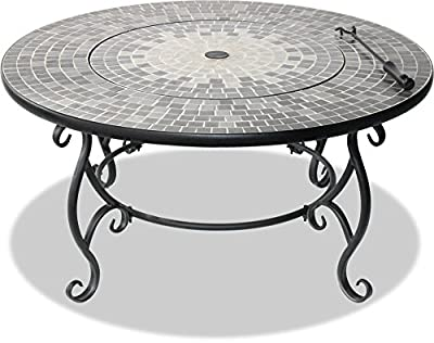 Centurion Supports Fireology Ginessa Sumptuous Garden Patio Heater Fire Pit Brazier Coffee Table Barbecue And Ice Bucket With Mosaic Ceramic Tiles by Centurion Supports