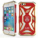 6s iPhone, in metallo, per iPhone 6 Plus-Case Full body Built-Case in policarbonato di alta qualità, motivo: Transformers, in alluminio antiurto resistente a doppio strato, antiurto, resistente agli urti, per Apple iPhone 6 Plus/6s Plus, Red + Yellow, iPhone 6 Plus