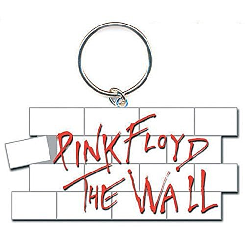 Pink Floyd The Wall White Red Bricks Logo Metal Keychain Keyring Gift Official