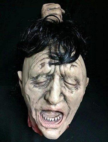 Kostüme Erwachsene Leatherface Scary (JJH-ENTER Halloween Requisiten Spukhaus Bar Dekoration Artikel Umweltschutz Emulsion Geister und Monster Terror)