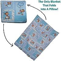Dazoriginal cuscino coperta per neonato regalo Set - tappeto Baby - viaggio coperta e cuscino - Baby coperte attività Floormat 100% cotone - Baby
