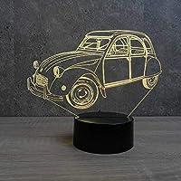 Lampe 2CV personnalisable 16 couleurs RGB & télécommande - Fabriquée en France - Lampe de table - Lampe veilleuse - Lampe d'ambiance