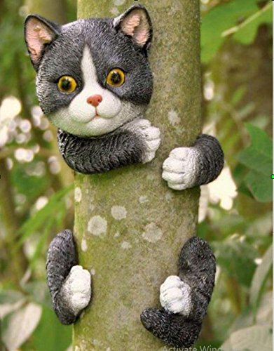 garden mile set of 4 novelty garden animals tree peeker novelty garden ornaments garden tree decoration garden sculpture statues home decor - Garden Animals