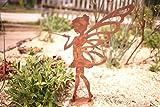 Kleines Fabelwesen Fee Lili- 36cm: Wunderschöne Garten-Figur zu verwenden ALS Garten Deko, auf dem Balkon oder ALS Dekoration auf Ihrer Terrasse oder in der Wohnung - Dekofigur von Manufakt-Design