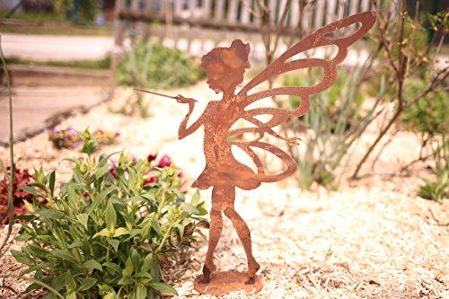Kleines Fabelwesen Fee Lili- 50cm: Wunderschöne Garten-Figur zu verwenden ALS Garten Deko, auf dem Balkon oder ALS Dekoration auf Ihrer Terrasse oder in der Wohnung - Dekofigur von Manufakt-Design