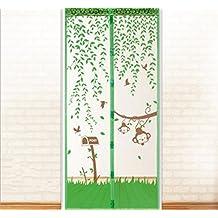 mosquitera para puerta estilo mono mosquitera puerta cortina magntico mosca cortina x cm x cm u klebmontage sin agujeros u magntico cortina