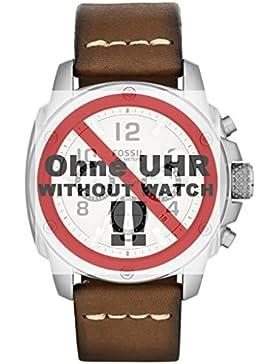 Fossil Uhrband Wechselarmband LB-FS4929 Original Ersatzband FS 4929 Uhrenarmband Leder 24 mm Braun