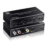Luoartsu Switcher Ultra HD Switcher HDMI2.0, Interruttore HDMI Due in Uno con Uscita Audio 2x1 Separazione Audio ARCHDCP2.2 4k 2 3 4