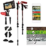 ATTRAC telescopic walking poles with tripod, trekking poles, carbon ultra light for photos