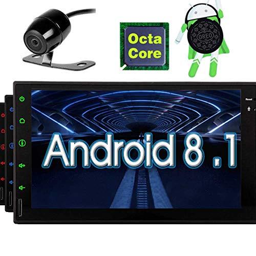 EINCAR Rückfahrkamera inklusive 7 Android 8.1 Oreo Car Stereo Navigator - Otca Kern im Schlag Kapazitive Touch-Screen-Autoradio Audio Navigation 7 LCD Bluetooth WiFi GPS Subwoofer AV-Ausgang