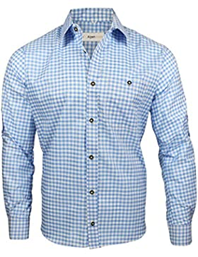 Alpenmode Trachtenhemd für Herren Vers.gr. S-XL Hemd Oktoberfest Freizeit Lederhosen