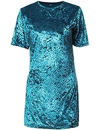 Amazon.it  Velluto blu - Hibote   Vestiti   Donna  Abbigliamento 2e44b9a7419