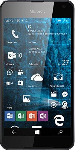 Nokia Lumia 650 Smartphone Portable débloqué 4G (Ecran: 5 Pouces - 16 Go - Double Nano-SIM - Windows) Noir