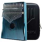 Moozica Acajou Tone Bois 17 touches Kalimba, professionnel de haute qualité doigt pouce Piano Instrument de musique Cadeau (le vert foncé)