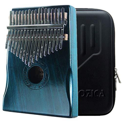 Moozica kalimba professionale a 17 tasti, Pianoforte da pollice di alta qualità con custodia protettiva (Mogano-K17MBL)