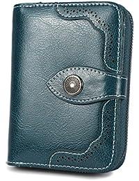 b698441f42 Portafogli da donna in vera pelle di grande capacità con Cerniera di lusso  con Protezione RFID