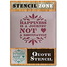 Felicidad es un viaje NO un destino Vintage Shabby Chic Pintura de Mylar plantilla para estarcir A2 Size Stencil - Large