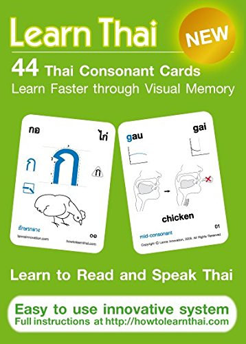 Learn Thai: Thai Consonants - 44 Flash Cards Innovationen Flash