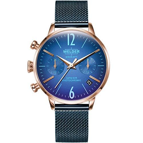 Welder Breezy Femme 36mm Bracelet Acier Inoxydable Bleu Quartz Montre WWRC717