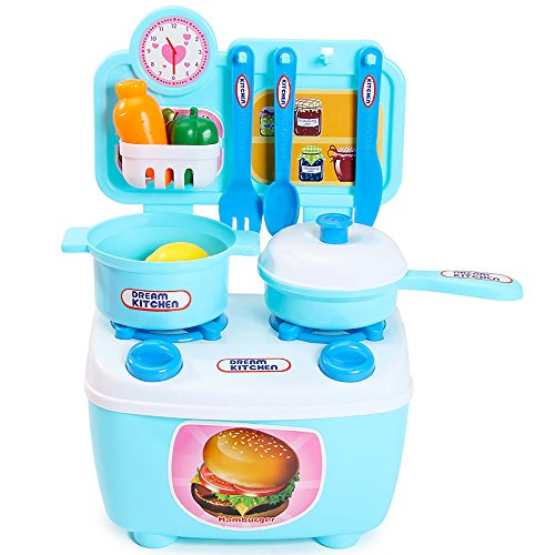 Erencook Kinder Spielzeug Kinderküche Rollenspiele Lernspielzeug Küchenspielzeug Spielküche...