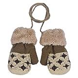 Amcool Baby Handschuhe,Schön Baby Mädchen Junge Blatt Warme Handschuhe(0-12 Monate) (0-12 Monate, Beige)