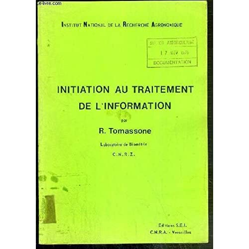Initiation au traitement de l'information (Documentation-biométrie)