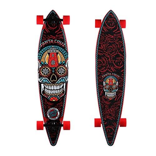 Santa Cruz Skateboard Longboard Sugar Skull Pintail, Black, 9.9 Zoll, SANLOBSUSKPI