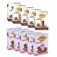 Kesari Premium Drinking Chocolate Milk Masala- 100 Gram, Strawberry Milk Masala-100 Gram Combo, Pack of 5