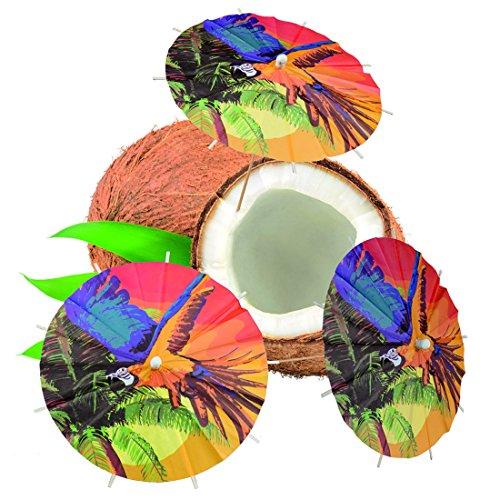 Paraguas-de-cctel-Fiesta-Hawaiana-18-cm-Sombrillas-de-cctel-Fiesta-en-Playa-Parasol-de-Papel-para-Bebidas-Mondadientes-Fiesta-Caribe