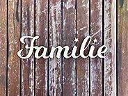 Individueller Schriftzug aus naturbelassenem Holz