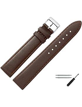 Uhrenarmband 24mm Leder braun, feines echtes Rindleder - Marburger Uhrband inkl. Federstege & Werkzeug - passend...
