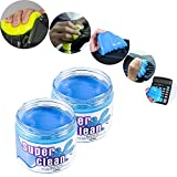 FancyAuto Staubreiniger Slime Magic Cleaning Gel für Keyboard Phone Laptop Car Interior etc(Blau*2)