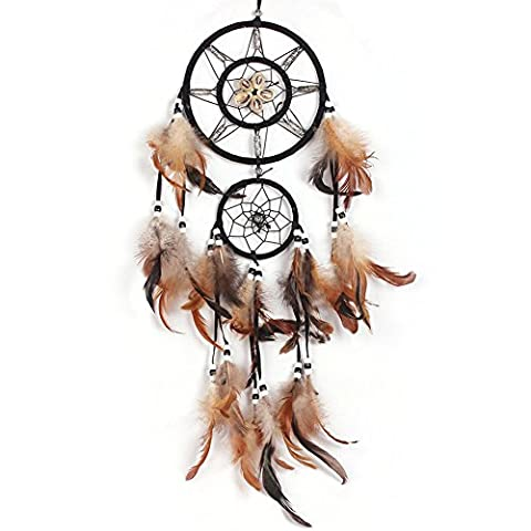 New Dream Catcher Handmade Indian Traditional Net With feathers Wall Hanging Decorations Craft Gift for Wall Car Decoration Best Gift (Various styles)