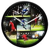 alles-meine GmbH Wanduhr -  Fußball & Fußballspieler  - Ø 23 cm groß - Sehr Leise ! - Uhr - A..