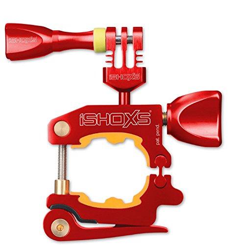 iSHOXS Action- und Sport-Kamera Fahrrad-Halterung - ProMount (20-40 mm Klemmbereich) - Rot