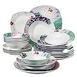 Veweet 'Olina' Juegos de vajilla de porcelana 24 piezas 6