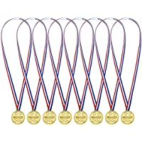 36 Pack Gold Plastic Winner Medals Golden Awards for Kids Party, Competition, Reward
