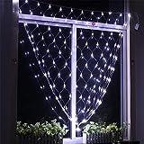 He-shop Fairy Net Licht LED Wasserdicht Mit Fernbedienung Hausgarten Straßenlaterne Vorhänge Restaurant Rasen Dekoration Bunte/weiß 3 * 3