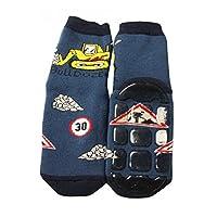 Weri Spezials Boys Terry ABS Bulldozer Slippers Anti Non Slip Socks 3-4 Years Jeans