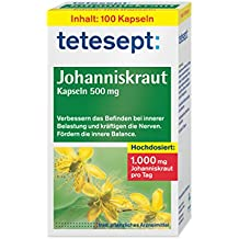 tetesept Johanniskraut Kapseln, 5er Pack (5 x 100 Stück)