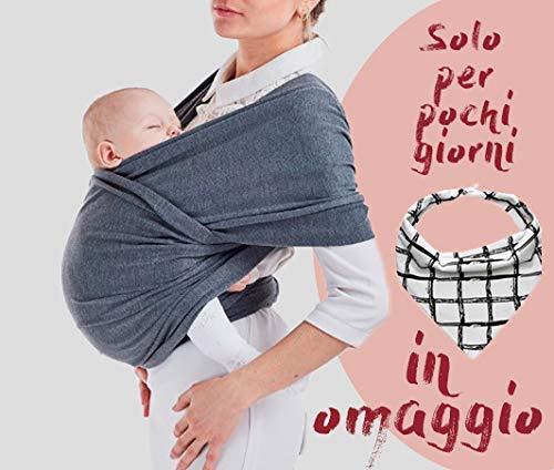 20694b98eb Porta Bebè, Marsupio Neonato Bambino, Soffici Per Bambini,100% Cotone  Organico.