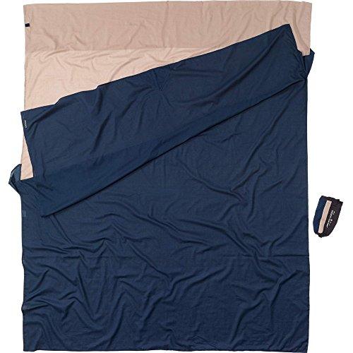 Cocoon Drap de sac Double ECD25/24 100 % Coton égyptien bicolore Bleu/Beige